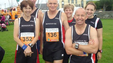 The Honiton runners at the Race the Train event in Wales