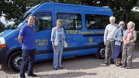 Neil Hurlock and Val Royle of TRIP Community Transport Association at the launch of the new health a