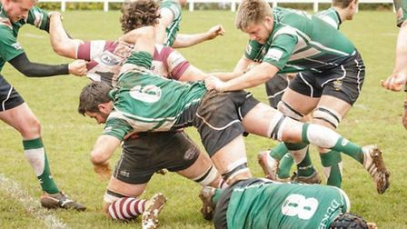 Sidmouth RFC action at Cleve on April 5