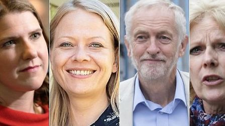 Opposition party leaders including Jo Swinson for the Lib Dems, Sian Berry for the Greens, Jeremy Co