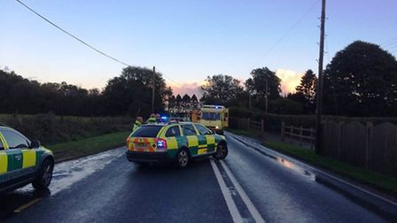 Firefighters were called to a four vehicle collision on the A35 near Windmill Garage, Honiton.