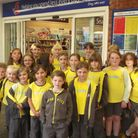 1st Honiton Brownies visit the Tesco store in the town.