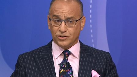Dragon's Den star Theo Paphitis on Question Time. Photograph: BBC.