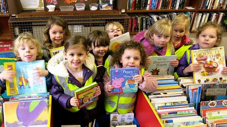 All Saints Wise Owls Pre School went on a visit to Axminster Library. Picture CHRIS CARSON