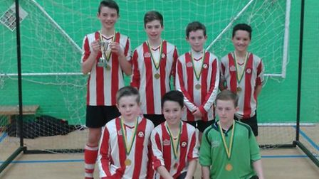 Colyton, winners of the East Devon Youth League Futsal competition