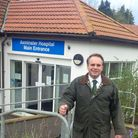 MP Neil Parish outside Axminster Hospital