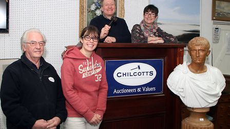 Duncan and Liz Chilcott, Jenny Bell and Dudley Broom of Chilcotts Auctioneers & Valuers. Ref mhh 191