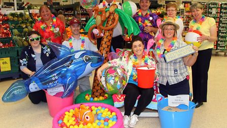 Honiton Tesco held a beach themed chairty day, raising money for Diabetes UK and British Heart Found