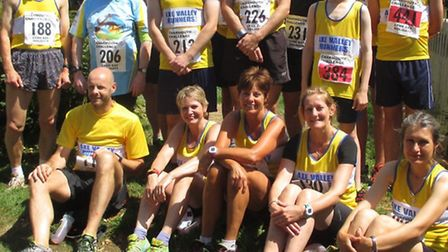 AVR runners at the Charmouth Challenge