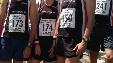 Honiton runners at the Charmouth Challenge