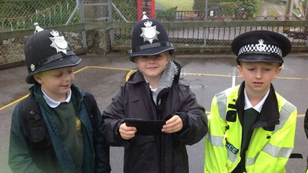 Youngsters enjoyed a visit from PC Phil Hodder.
