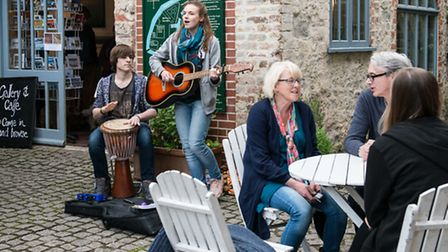 Music, art and food will be available to 8pm and later at The Town Mill.