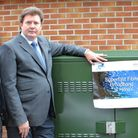 Switched on: (L to R) BT Programme Manager Laurent Boon; Devon County Councillor Andrew Leadbetter;