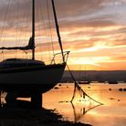 A September sunset across the Exe estuary pictured from the sailing club. Photo by Simon Horn.
