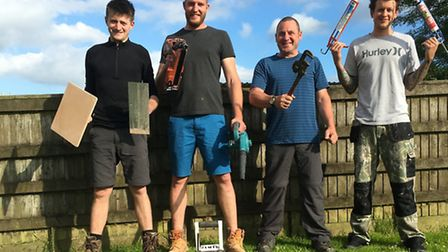Zak Mortimer-Wale, Aaren Carpenter, James Sturgeon and Jan Wale are gearing up for a charity climb u