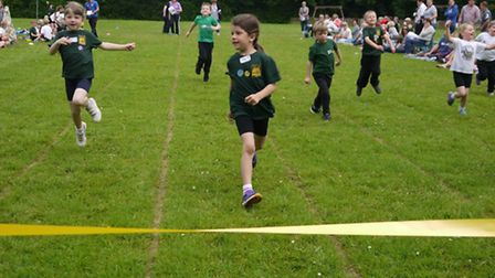 Pupils race for victory.