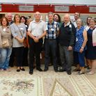Axminster Chamber of Commerce members during their visit to Axminster Carpets.