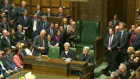 John Bercow is dragged to the speaker's chair as he is re-elected to the post. New candidates for th