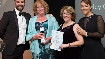 Pictured are Julie Jinks and Tracy Cook from Barley Close with their award. Picture CHRISTOPHER NUTT