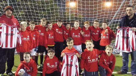 Colyton under 12s with their new kit. Picture: SUBMITTED