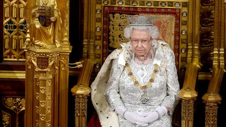 Queen Elizabeth II during the State Opening of Parliament in the House of Lords at the Palace of Wes