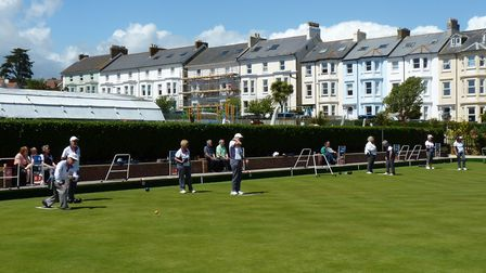 Action from the Club Championship at Seaton Bowling Club