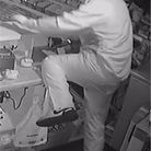 A burglar was caught on camera at the Tower Filling Station on Seaton Down Hill