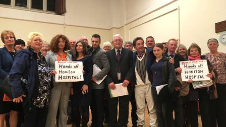 'Hands off Honiton Hospital': The message conveyed by attendees of a similar meeting held in Honiton