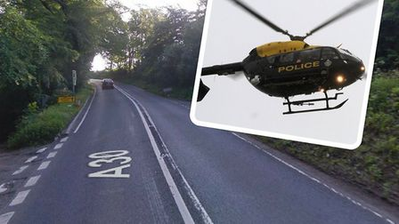 The A30 between Viney Lane (Rawridge) and A303 (Upottery) is blocked both ways after a five-vehicle
