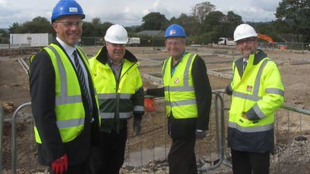East Devon District Council Leader, Cllr Paul Diviani (second right) and deputy leader, Cllr Phil Tw