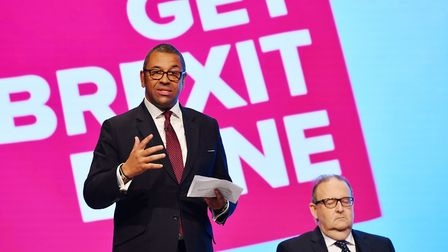 Tory chairman James Cleverly at the Conservative Party conference. Picture: Jeff J Mitchell/Getty Im