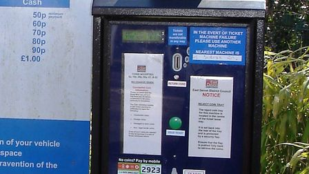 Car park ticket machine at West Street Aminster. Picture: CHRIS CARSON