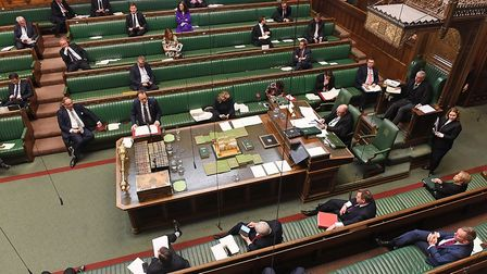 MPs in the House of Commons during the Covid-19 pandemic
