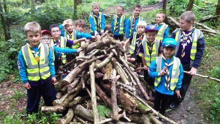 Honiton Scouts in their new high visibility vests courtesy of Specsavers. Picture: SUBMITTED