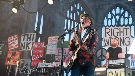 Guitarist Lynval Golding of The Specials performs live on stage during their 40th Anniversary Tour a