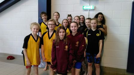 Some of the Chard and District Swimming Clubmembers who were in action at the Somerset County champi
