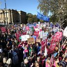 The People's Vote March in London. Photograph: Yui Mok/PA.