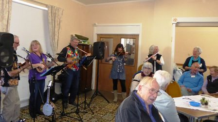 Foot- tapping music at Colyton, Colyford and District Memory Cafe. Picture: SUBMITTED