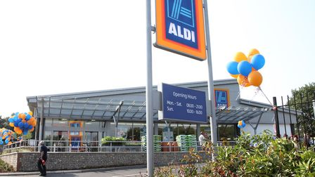 Honiton's Aldi store. Photo by Simon Horn. Ref mhh 4589-29-13SH To order your copy of this photograp