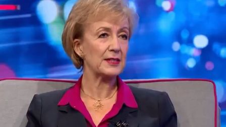 Andrea Leadsom appears on Peston's television show. Photograph: ITV.
