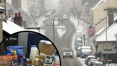 Honiton's food bank has been forced to close today (Friday) because of the snow.