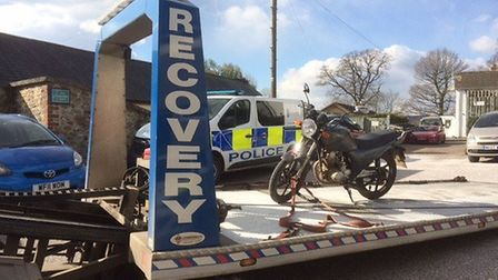 The bike seized by police in Honiton.