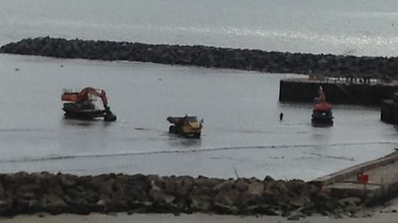 Dredging at Lyme Regis. Picture: Andrew Coley