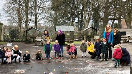 Easter fun in the playground at Chard School. Picture: SUBMITTED
