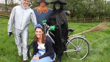 The annual Weston cycle ride from The Otter Inn. Family members Chris, Tony, Nikki and Megan Pullman