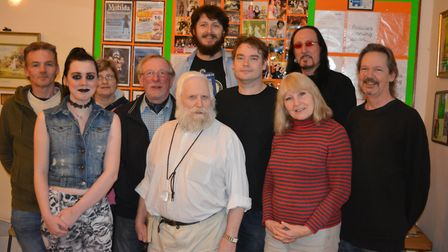 Some members of the cast for Axminster Drama Club's production of Mort. Picture: Andrew Coley