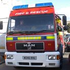 Fire crews were sent to Pynes Lane to rescue the dog.