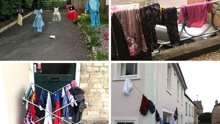 A show of support: Residents have started hanging their laundry outside in support of Claire.