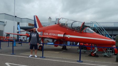Red Arrow static display at Exeter Airport for the RAF's Centenary. Picture: Jason Sedgemore