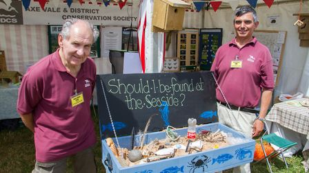 Roger Critchard and Doug Rudge of Axe Vale and District Conservation Society at the Axe Vale Show. R